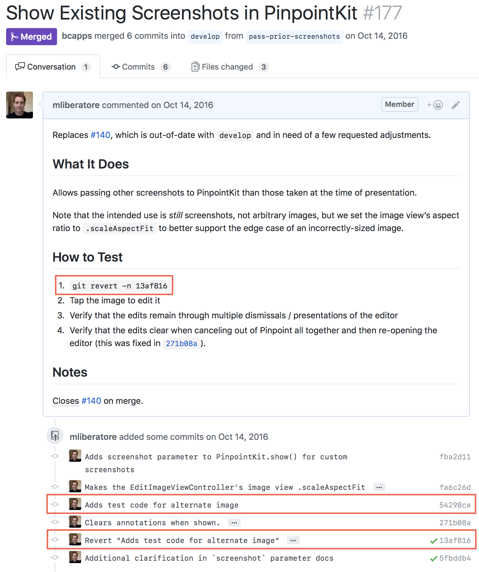 A screenshot of an GitHub pull request highlighting the trick described in this blog post.