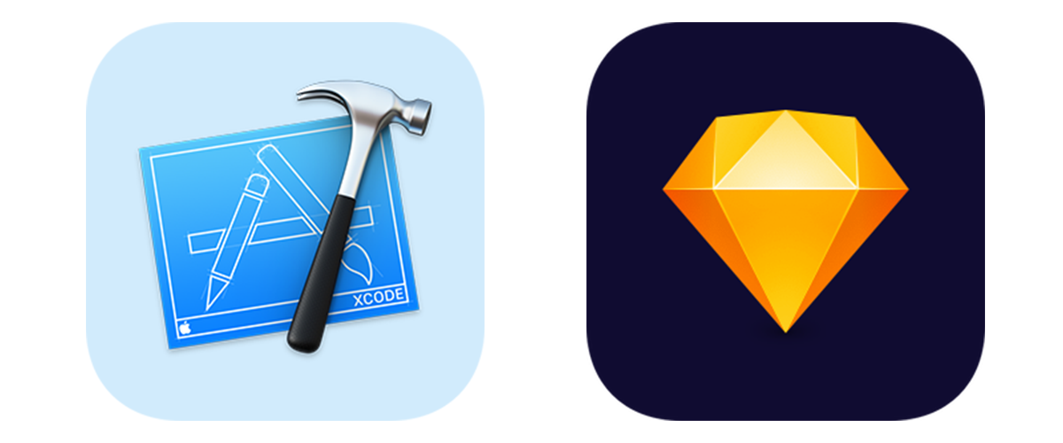 Icons for Xcode and Sketch.
