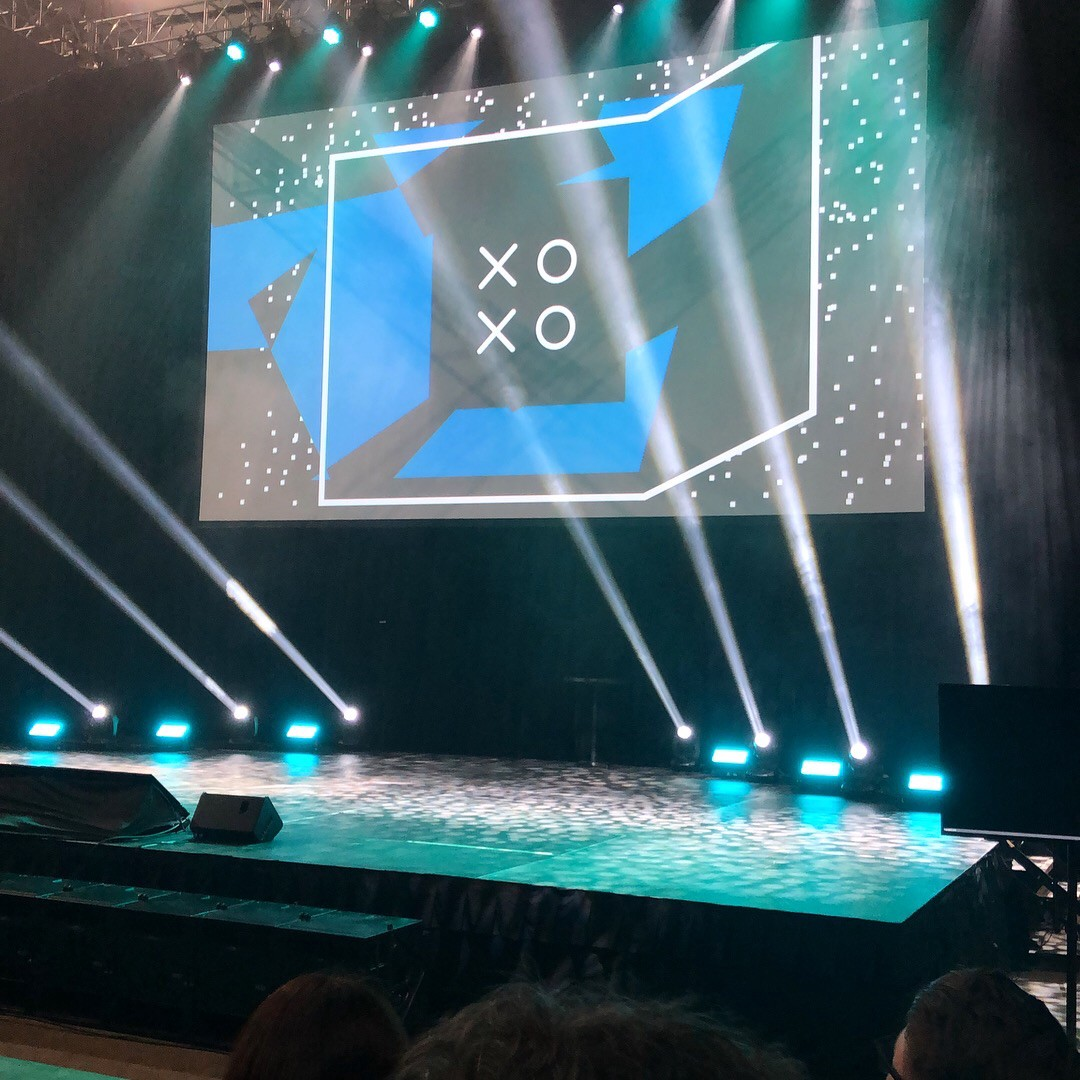 A photo of the main stage at XOXO 2018.