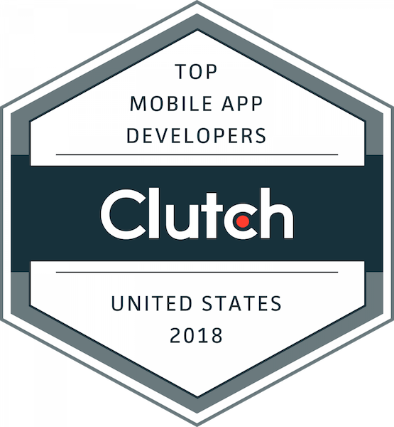 "The Clutch ""Top Mobile App Developers 2018"" badge."