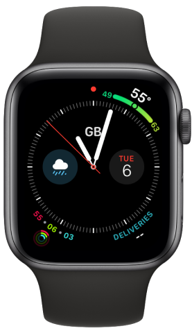 A screenshot of Grant's Apple Watch.