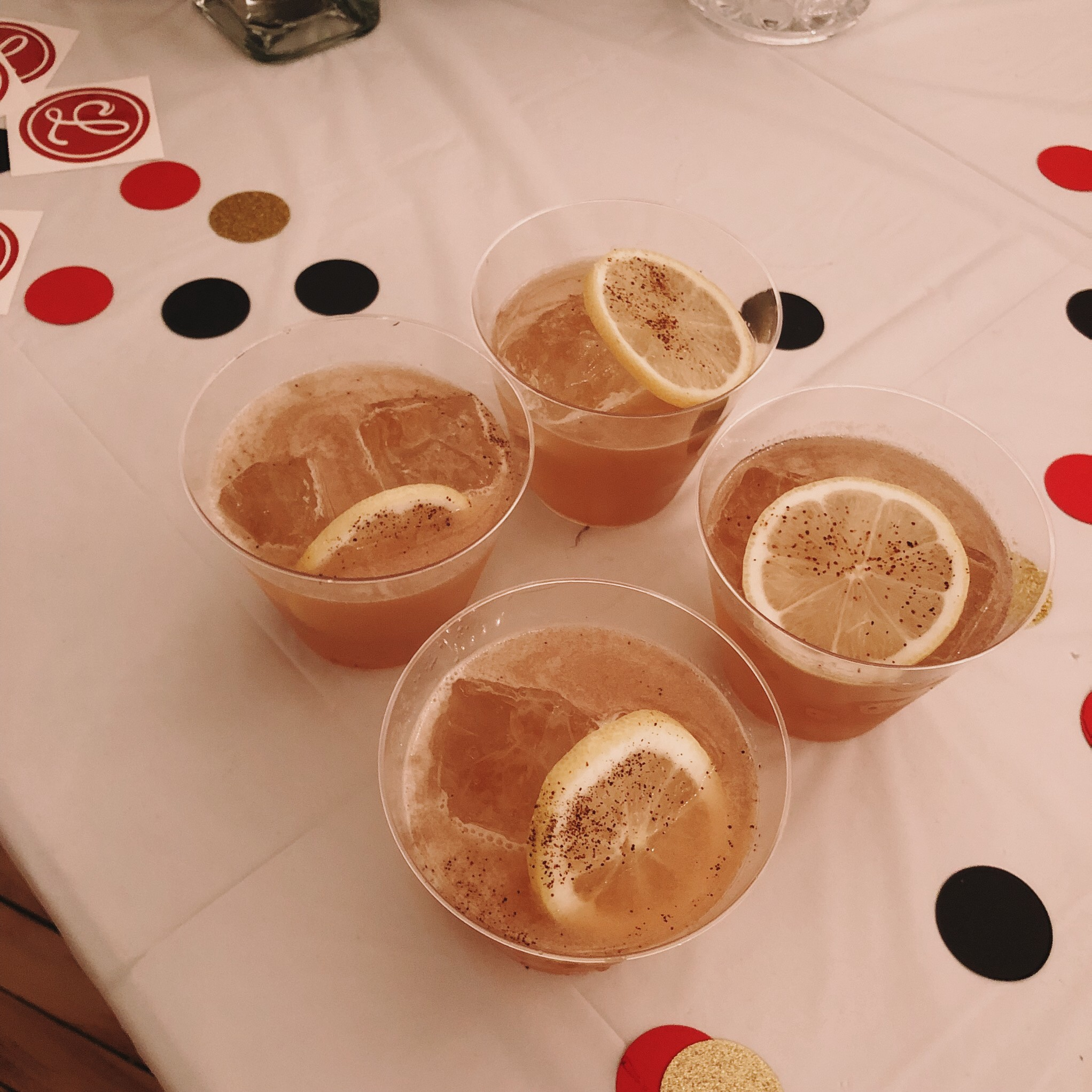 Four cocktails.