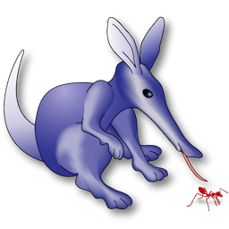 The mascot for Radar, an anteater.